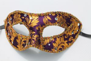 Purple and Gold Mask - Baroque Mask | Masks and Tiaras